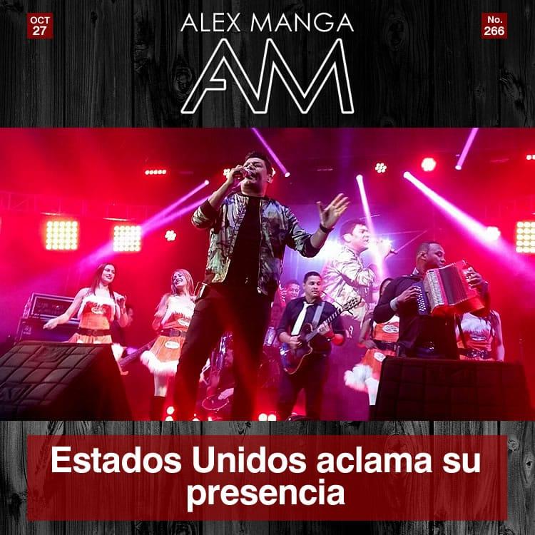 Estados Unidos aclama presencia de Alex Manga