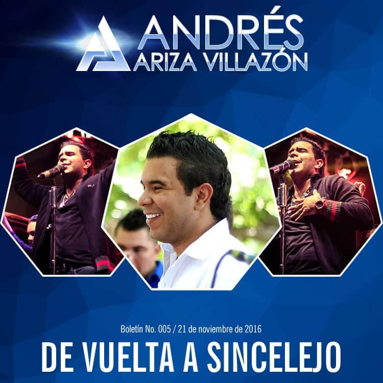 Andrés Ariza Villazón de vuelta a Sincelejo   Vallenatoalcien.com