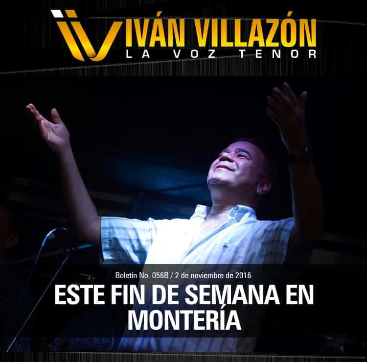 Iván Villazón este fin de semana en Montería