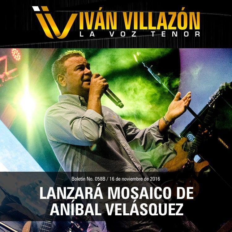 Iván Villazón lanzará mosaico de Aníbal Velásquez