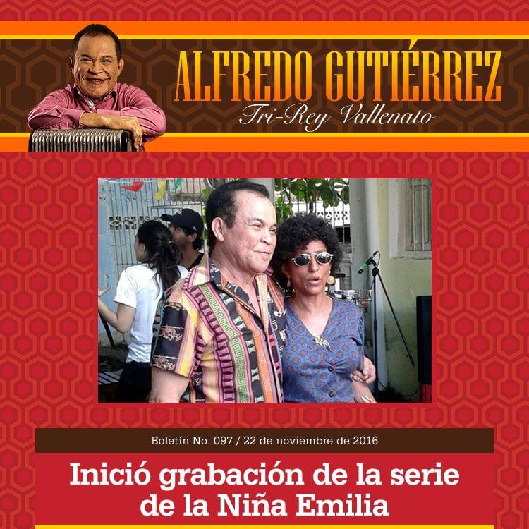 Alfredo Gutiérrez inició grabación de la serie de la Niña Emilia