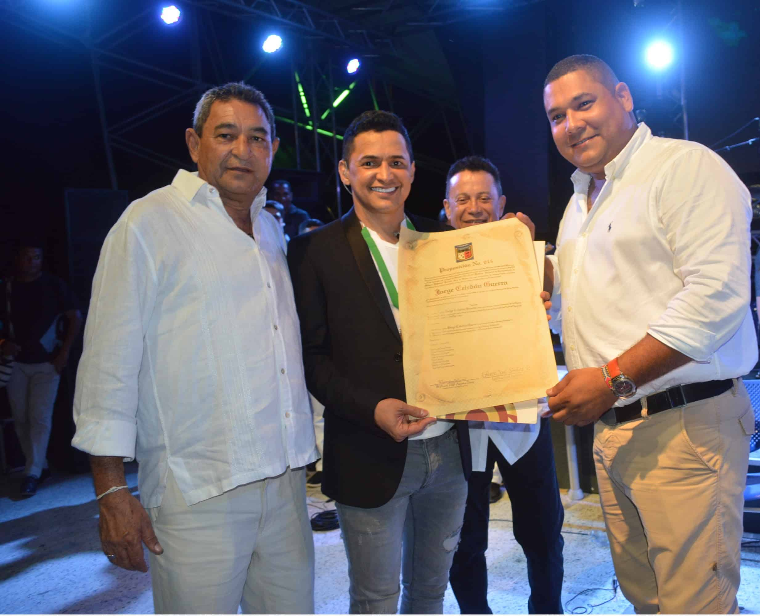 Jorge Celedón declarado 'Hijo Adoptivo' de San Juan del Cesar - Guajira