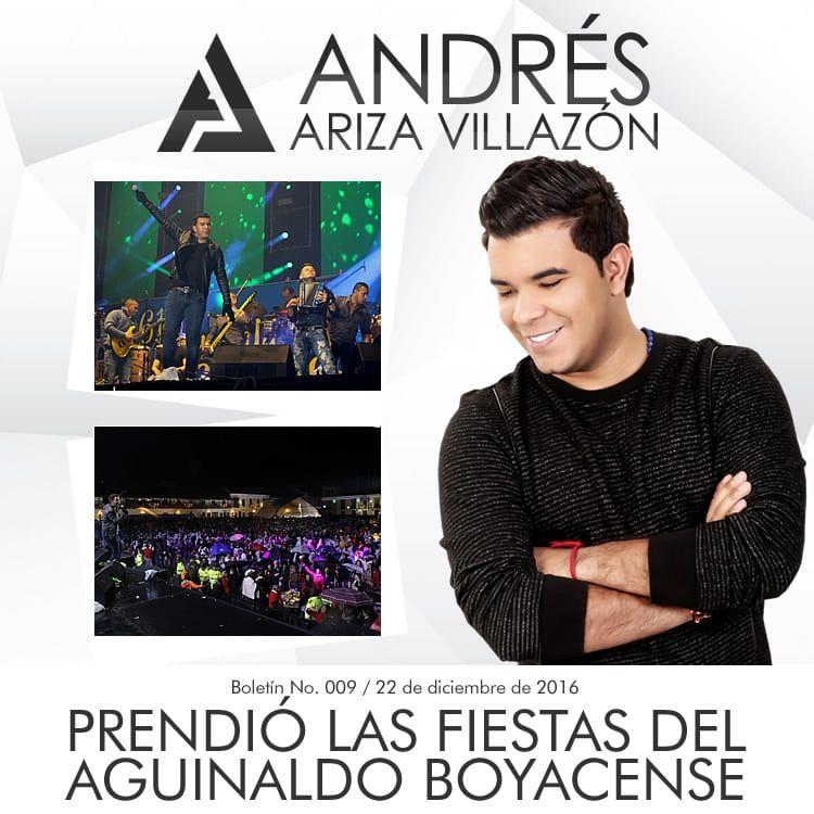 ANDRÉS ARIZA VILLAZÓN prendió las fiestas del Aguinaldo Boyacense