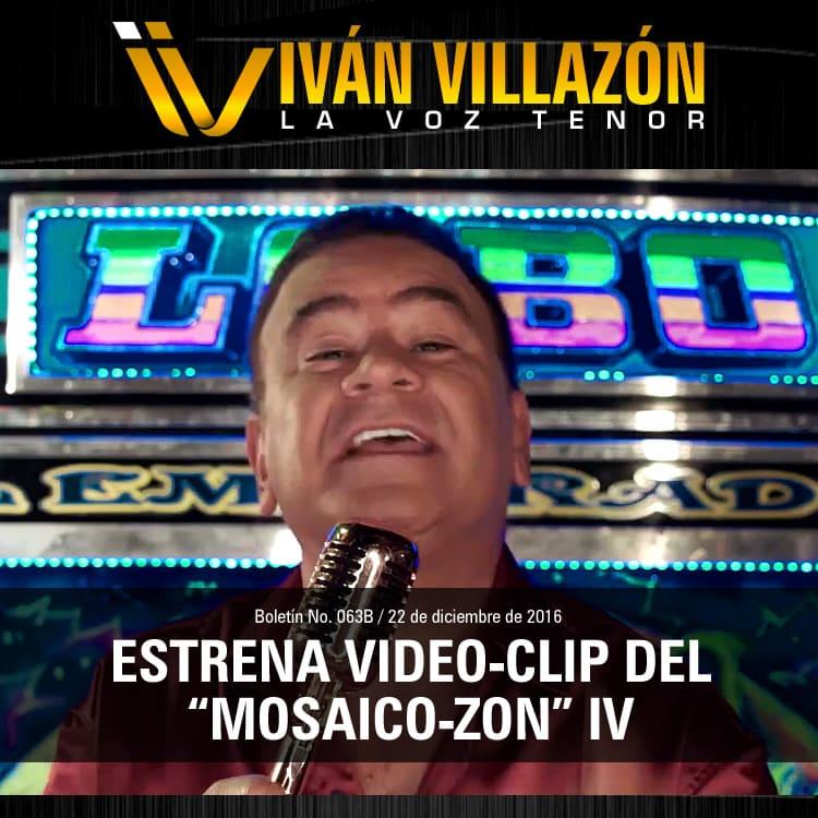"""Iván Villazón estrena video-clip del """"Mosaico-Zon"""" IV"""