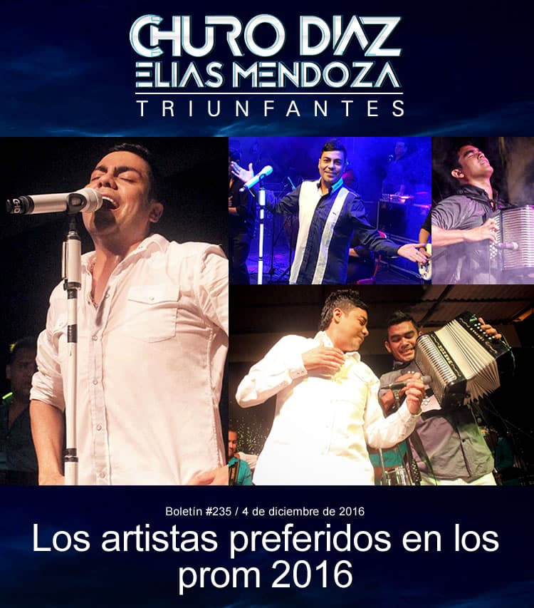 Churo Díaz & Elías Mendoza los artistas preferidos en los prom 2016