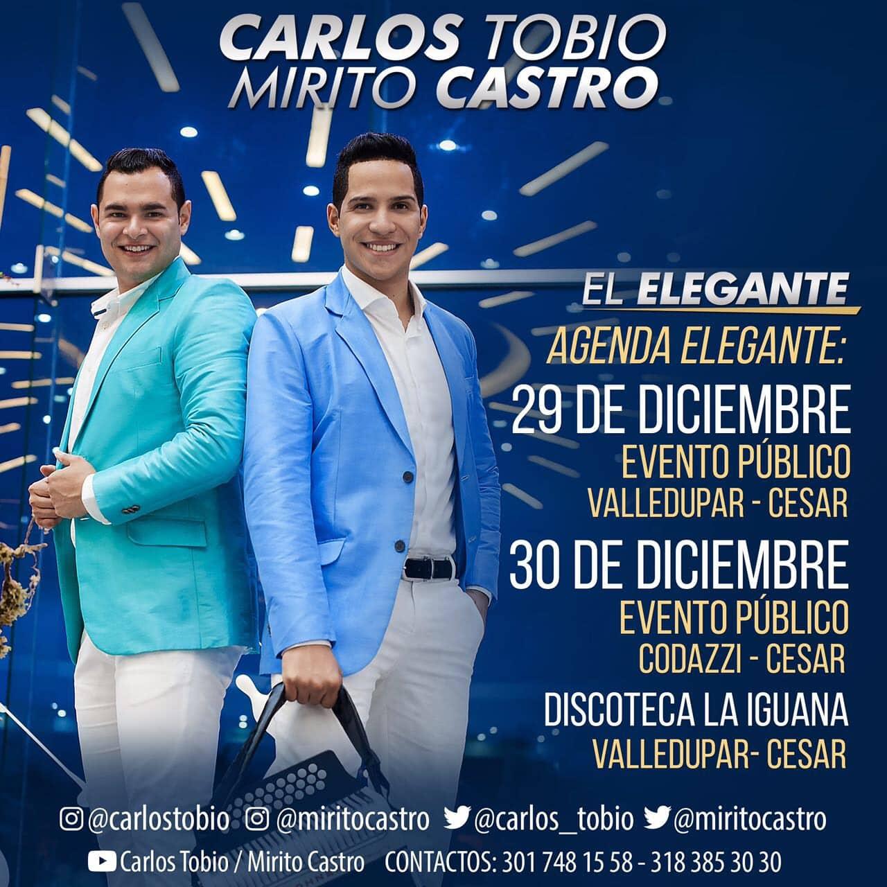 Carlos Tobio y Mirito Castro un fin de año elegante