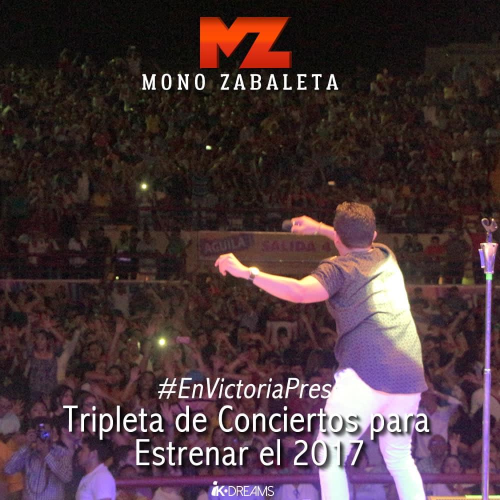 Con tripleta de conciertos inició el Mono Zabaleta el 2017