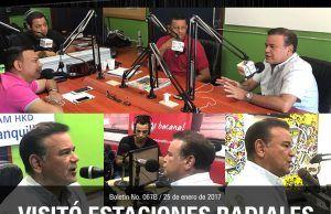 Ivan villazon visitó emisoras de Barranquilla