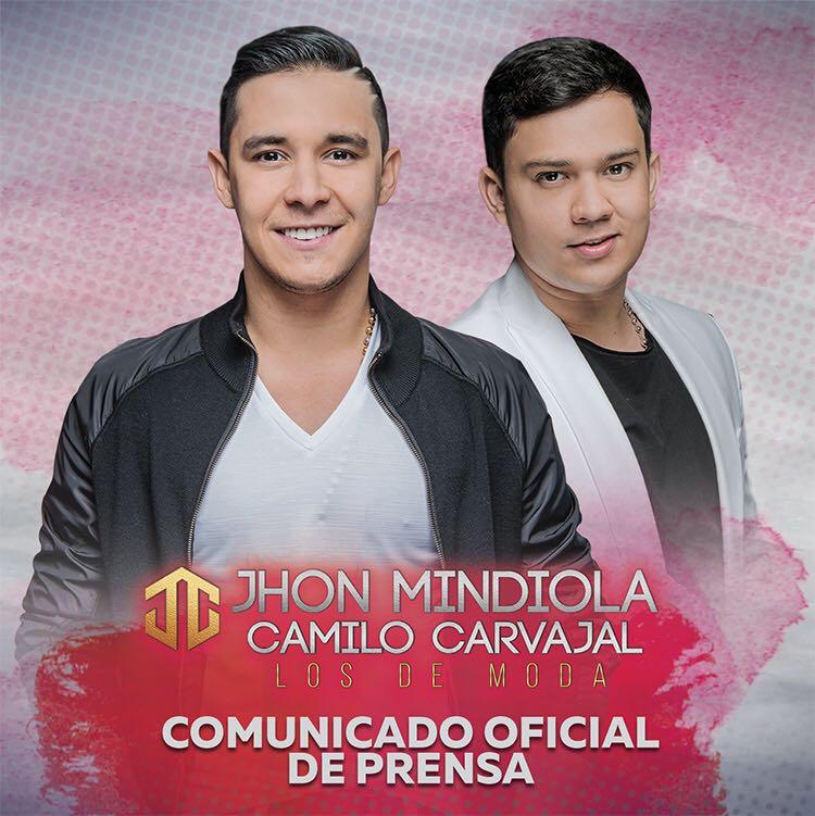 Jhon Mindiola y Camilo Carvajal