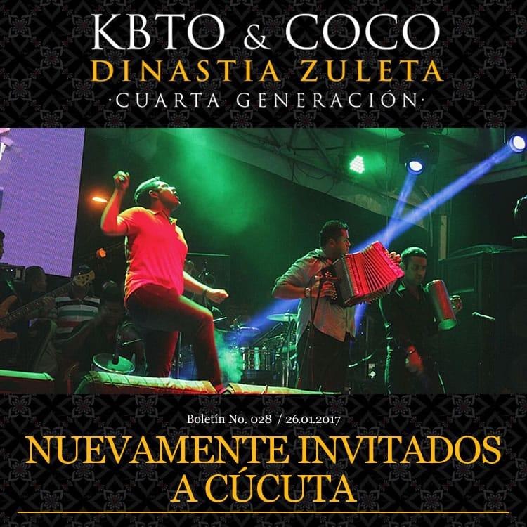 Kbeto Zuleta & Coco Zuleta nuevamente invitados a Cúcuta