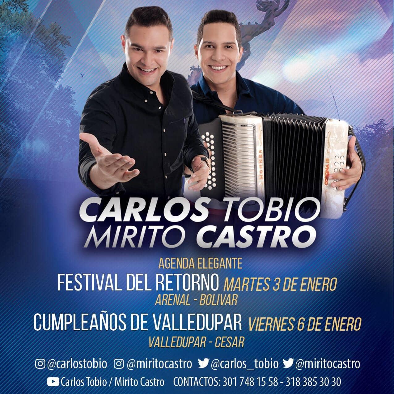 Carlos Tobio & Mirito Castro Inician el nuevo año con pie derecho
