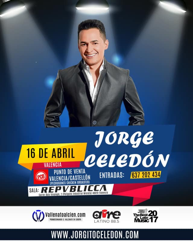 Jorge Celedon de concierto en Valencia