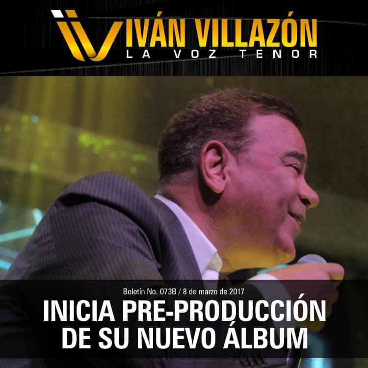 Ivan Villazón arranco preproduccion de su nuevo CD