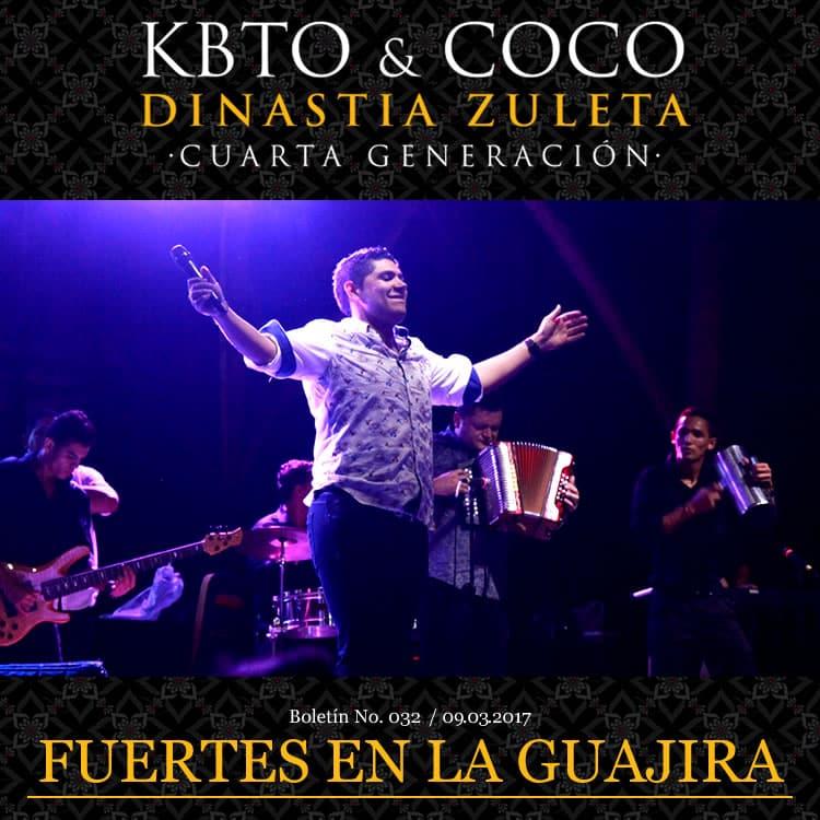 Kbeto Zuleta y Coco Zuleta fuertes en la Guajira