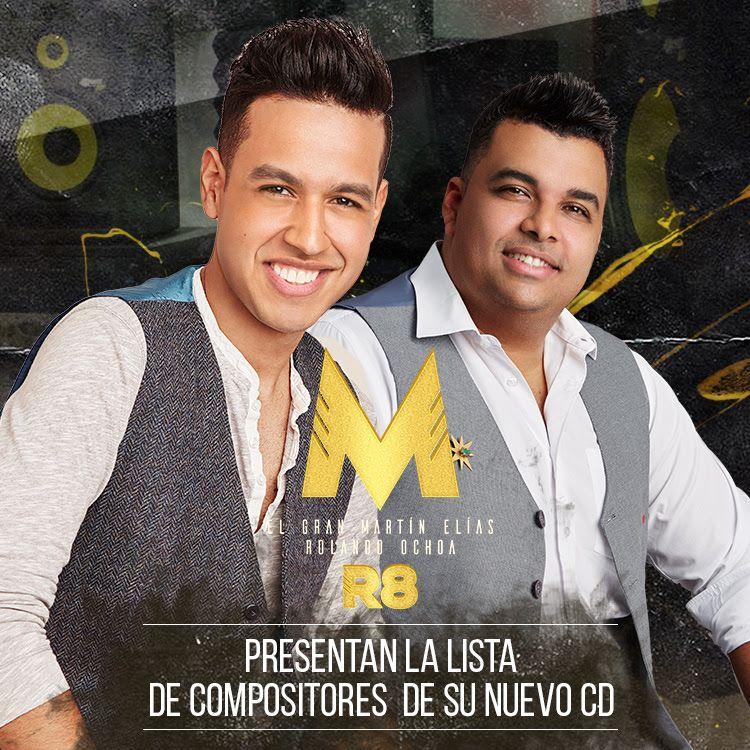 Martín Elías y Rolando Ochoa presentan lista de compositores de su nuevo álbum