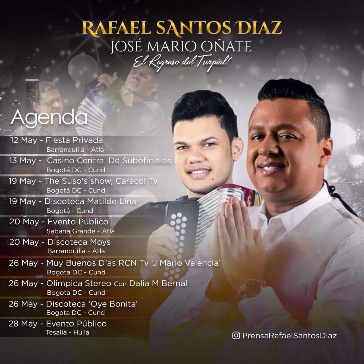 Rafael Santos, con un mes de mayo lleno de bendiciones
