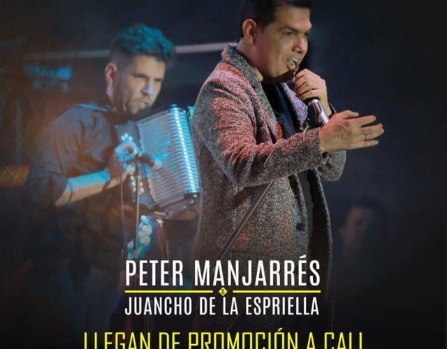 Peter Manjarrés y Juancho de promoción en Cali via @Vallenatoalcien
