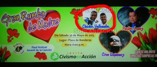 Suplantacion de nombre a los chiches vallenatos en Cucuta
