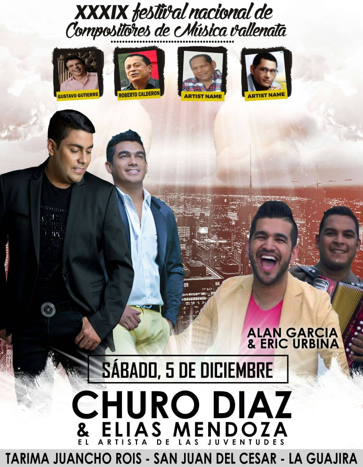 Festival de Compositores de San Juan del Cesar define programación musical