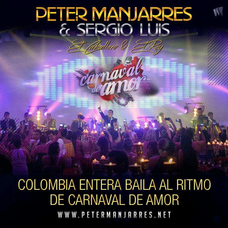 Colombia entera baila al ritmo de Carnaval de Amor de Peter Manjarrés y Sergio Luis