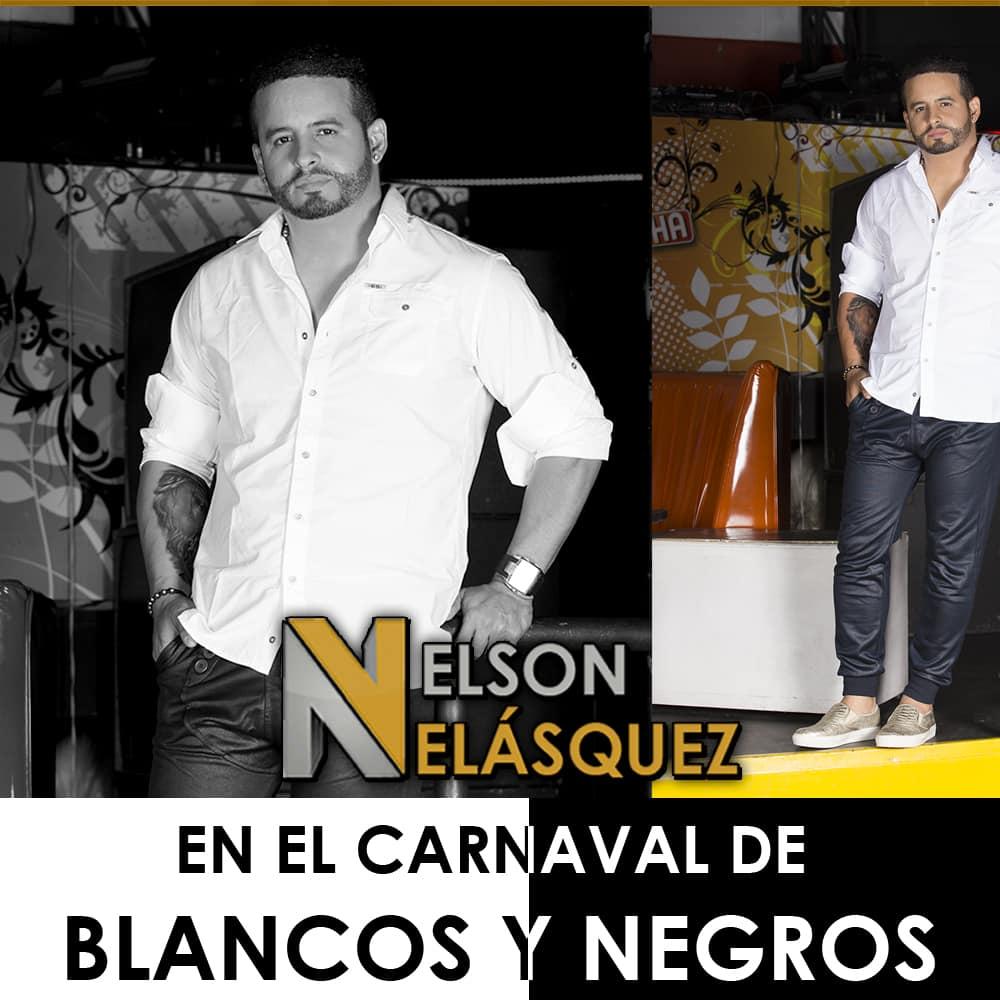 Nelson Velásquez en el Carnaval de Blancos y Negros