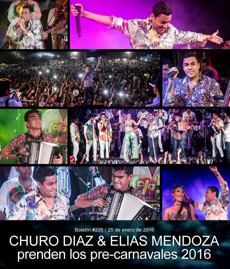 CHURO DIAZ & ELIAS MENDOZA prenden los pre-carnavales 2016
