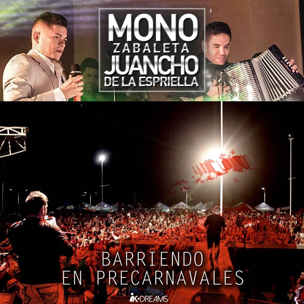 Mono Zabaleta & Juancho de la Espriella arrasando en precarnavales