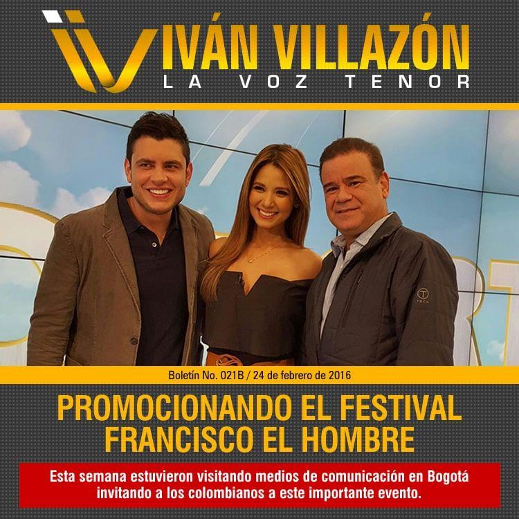 Iván Villazón promociona el Festival Francisco El Hombre