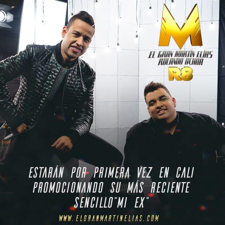 Martín Elías y Rolando Ochoa por primera vez en Cali de promoción