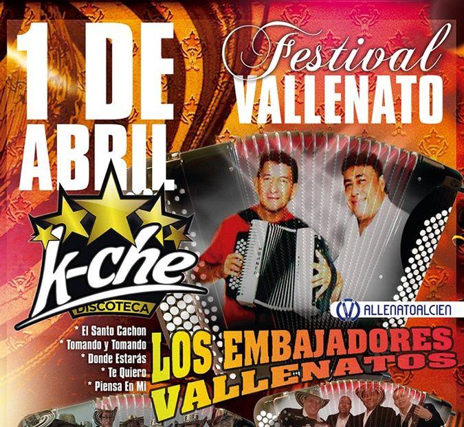 Concierto de los embajadores Vallenato en Valencia