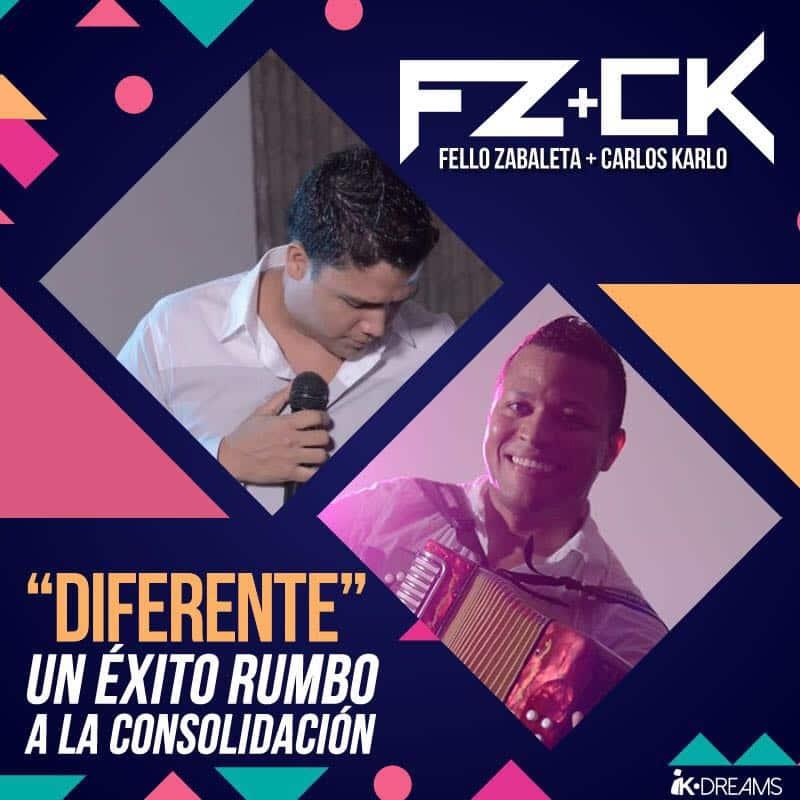 Diferente un éxito a la consolidación Fello Zabaleta y Carlos Karlos