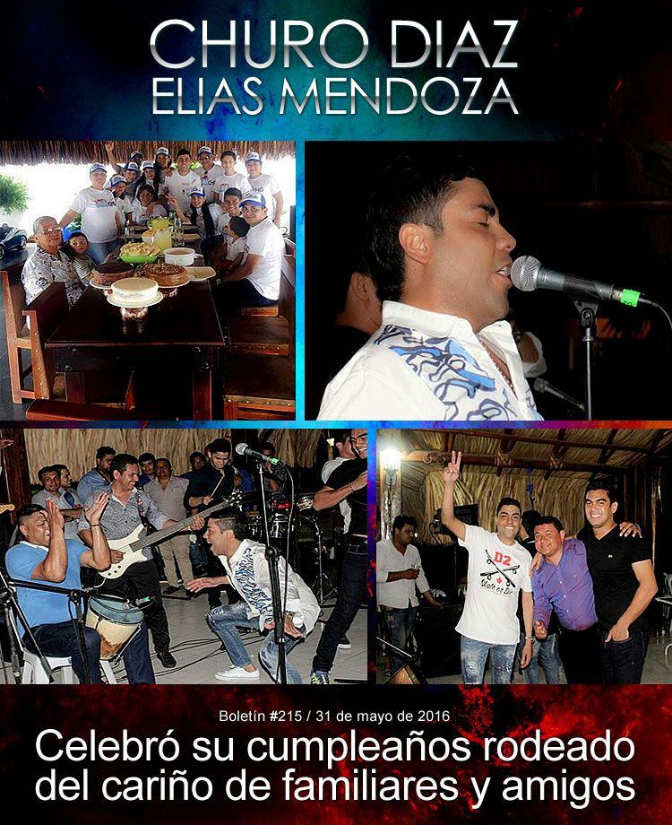 Churo Díaz celebró su cumpleaños rodeado del cariño de familiares y amigos
