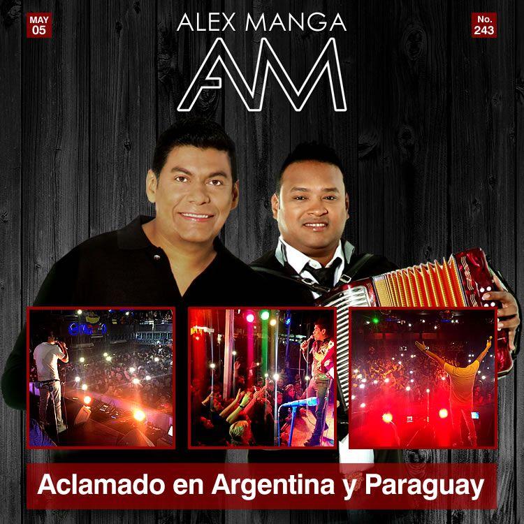 Alex Manga aclamado en Argentina y Paraguay