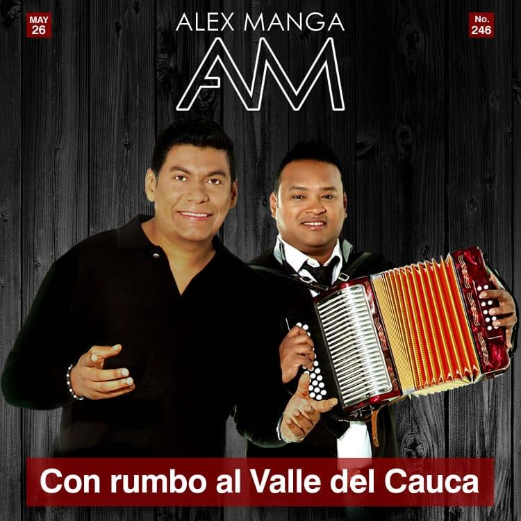Alex Manga rumbo al Valle del Cauca