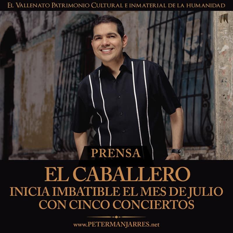 Peter Manjarrés inicia Imbatible el mes de Julio
