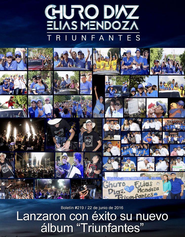 """Churo Diaz & Elias Mendoza lanzaron con éxito su nuevo álbum """"Triunfantes"""""""