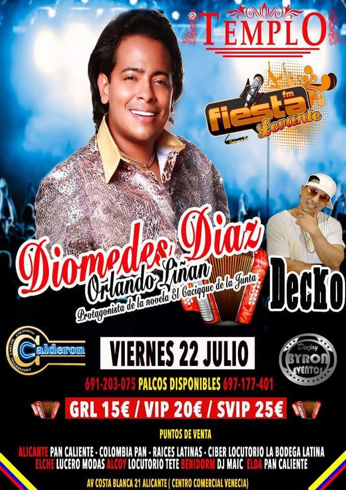 Orlando Liñan de concierto en Alicante