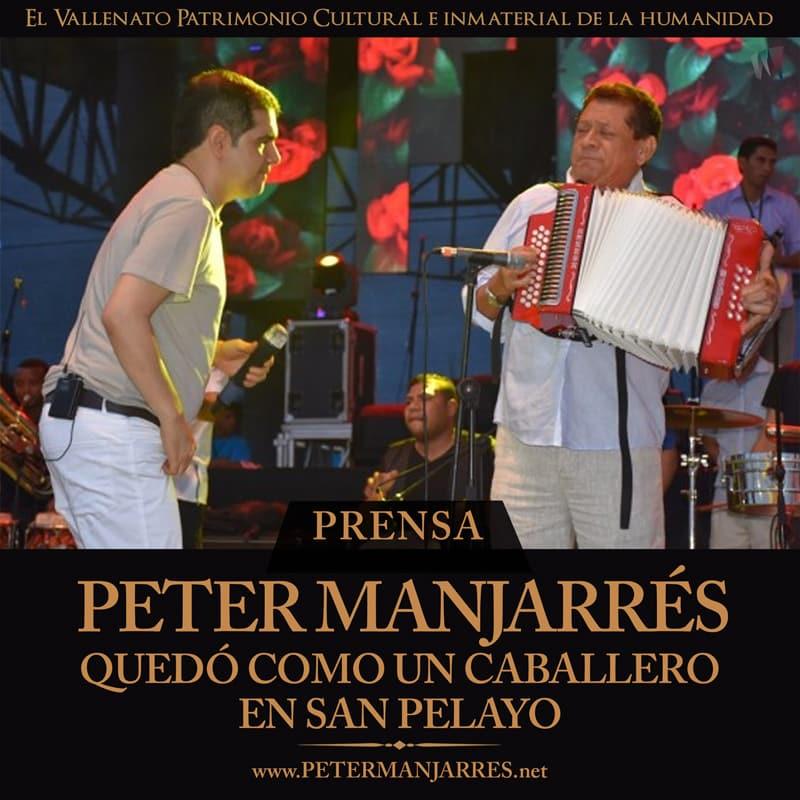 Peter Manjarrés quedó como un caballero en San Pelayo