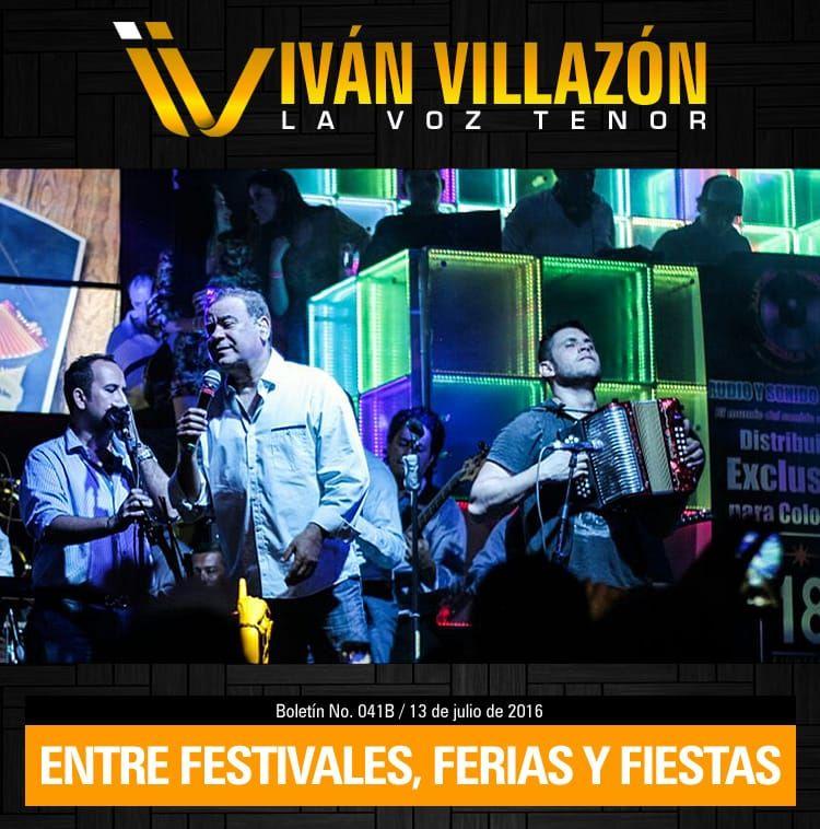 Iván Villazón entre festivales, ferias y fiestas