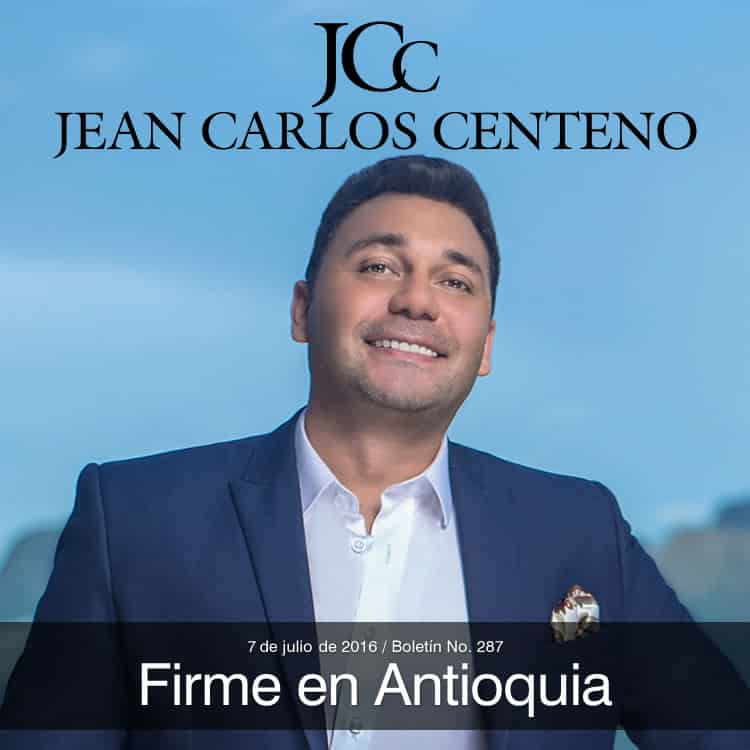 Jean Carlos Centeno firme en Antioquia