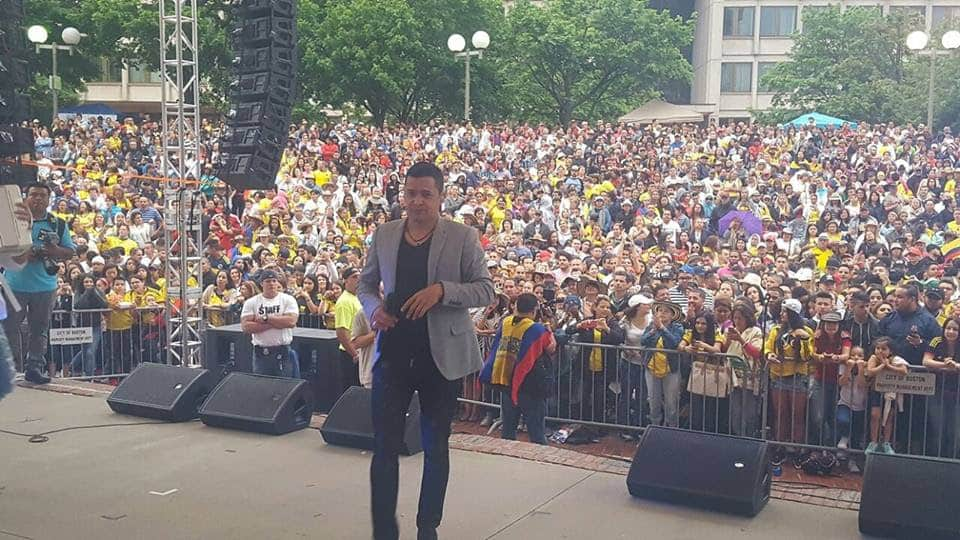 Jorge Celedón llena el Hall Plaza de Boston