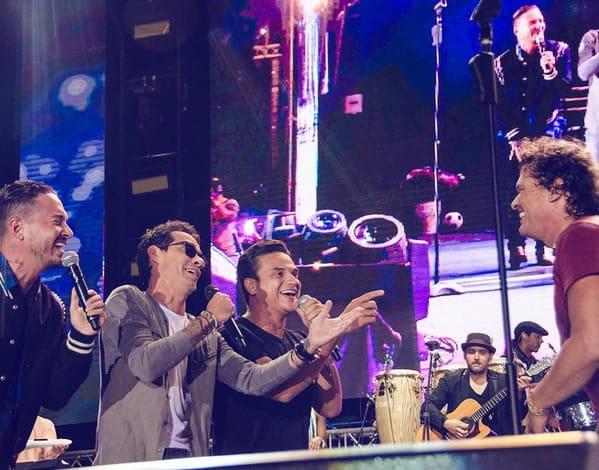Marc Anthony , Silvestre Dangond y JBalvin le cantaron Feliz Cumpleaños a Carlos Vives