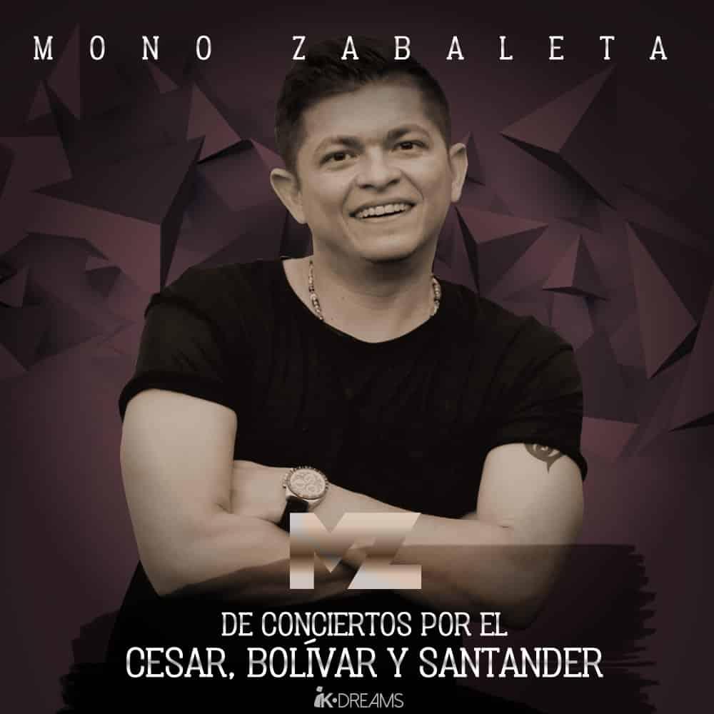 Mono Zabaleta de conciertos por el Cesar,Bolívar y Santander