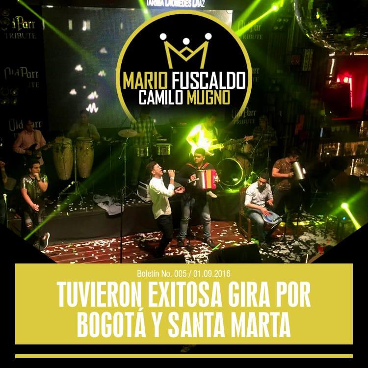 MARIO FUSCALDO & CAMILO MUGNO tuvieron exitosa gira por Bogotá y Santa Marta
