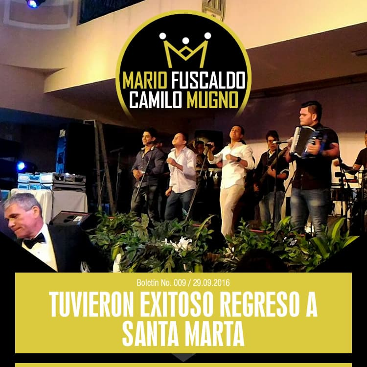 Mario Fuscaldo & Camilo Mugno tuvieron exitoso regreso a Santa Marta