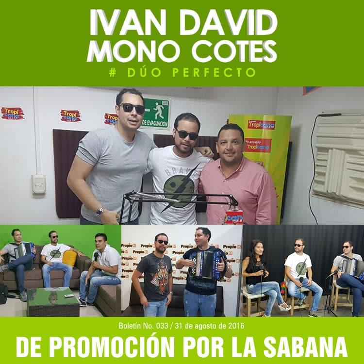 Iván David Villazón y Mono Cotes de promoción por la sabana