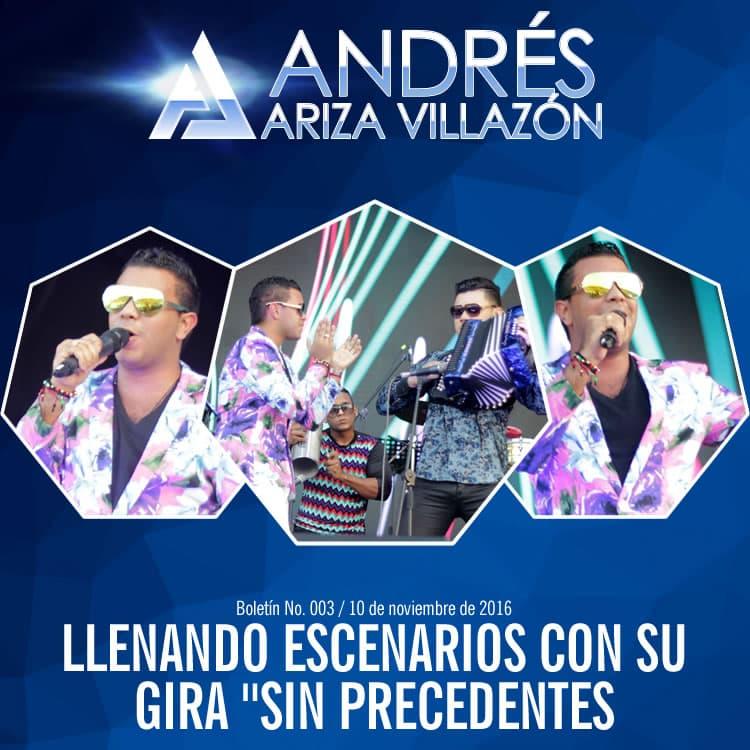 """Andrés Ariza Villazón llenando escenarios con su gira """"Sin precedentes"""""""