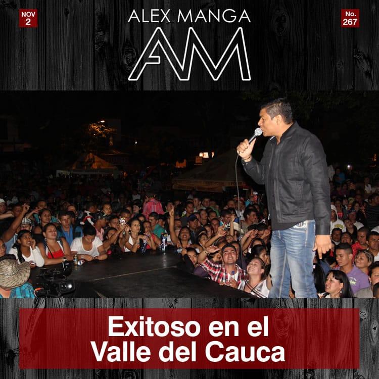 Alex Manga exitoso en el Valle del Cauca