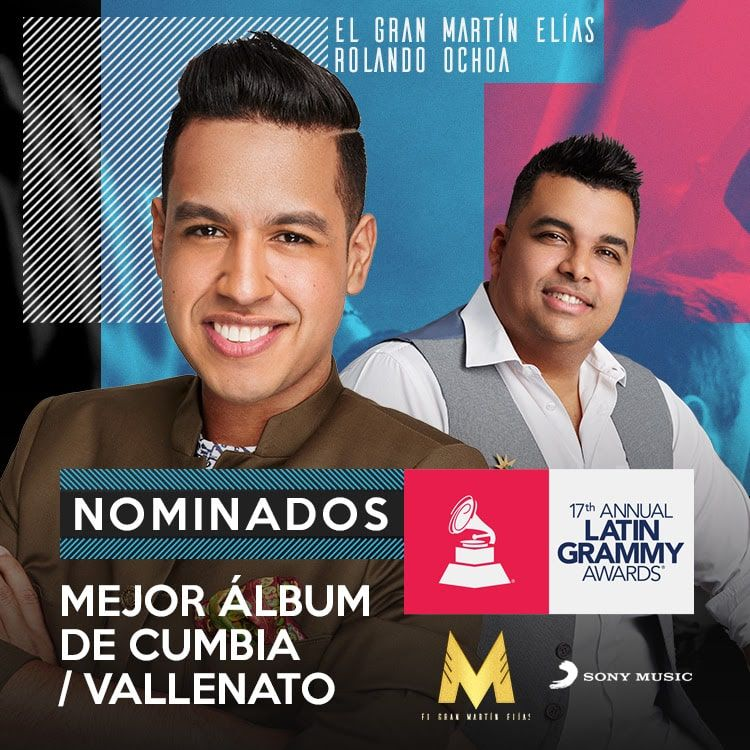 Martín Elías, presente en la 17 entrega anual de Los latin Grammy