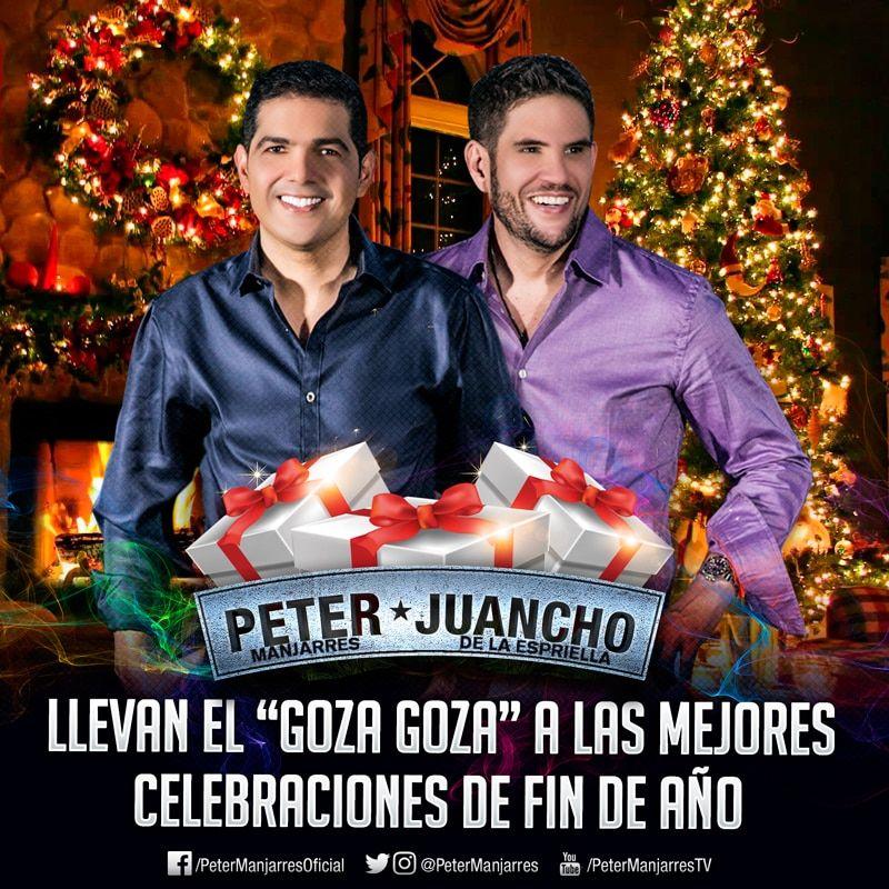Peter Manjarrés y Juancho de la Espriella llevan el Goza Goza a las mejores fiestas de Fin de año